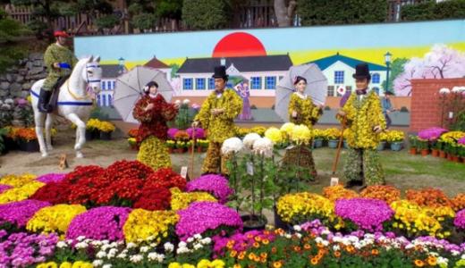 菊祭りが二本松で開催2016霞ヶ城が舞台の日程・見どころ。駐車場情報について