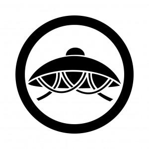 丸に笠紋(まるにかさもん)を画像で説明
