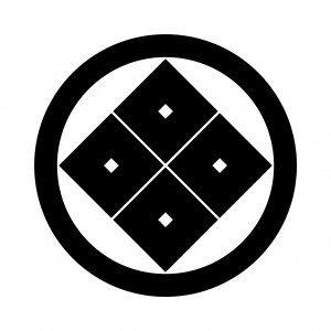 山崎の家紋って何?丸に隅立て四つ目の由来・意味を画像で説明