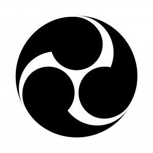 山田姓家紋左三つ巴
