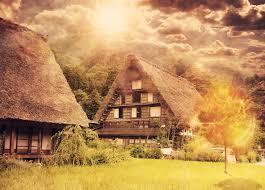 西の村の風景