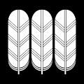 三つ並び鷹の羽紋