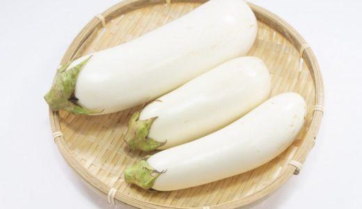 白なすの特徴・旬の時期は?|千葉県の青茄子・白茄子の品種