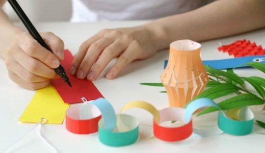おしゃれで簡単!七夕飾りの折り紙|短冊・ちょうちん・あみ(網)の手作り製作
