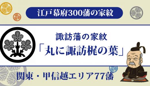 【江戸幕府300藩】諏訪藩の家紋は諏訪家の「丸に諏訪梶の葉」|10代の諏訪家が支配・高島城は続日本100名城に