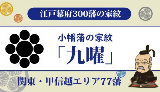 【江戸幕府300藩】小幡藩の家紋は松平(奥平)家家の「九曜」|逼迫し続けた幕政で維新を迎えた