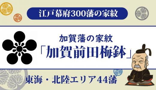 【江戸幕府300藩】加賀藩の家紋は前田家の「加賀前田梅鉢」|江戸時代最大の外様藩