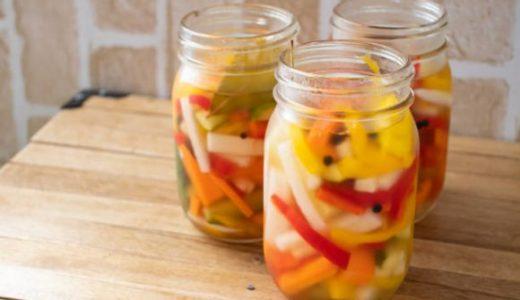 パプリカのマリネの日持ち|カンタン酢で作り置き・常備菜に!保存方法